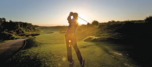 Sunset golfer Midweek Membership